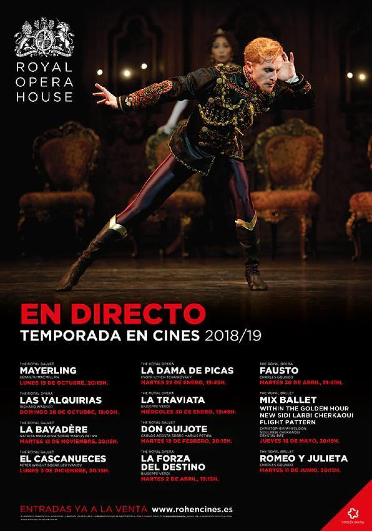 Temporada de ópera 2018-2019 de la Royal Opera House